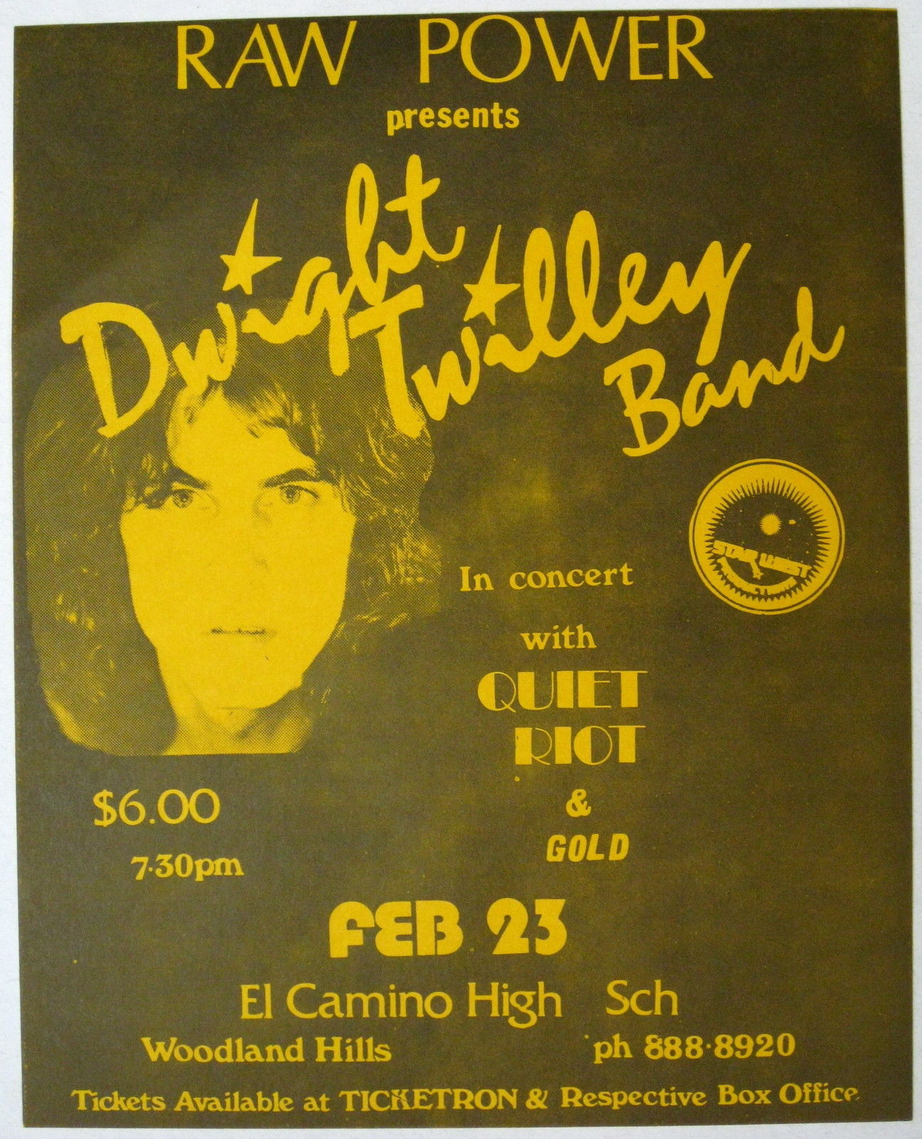 Quiet Riot 23 Feb 79 Dwight Twilley flyer.JPG